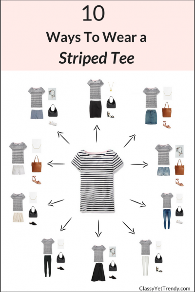 10 Ways To Wear A Striped Tee .