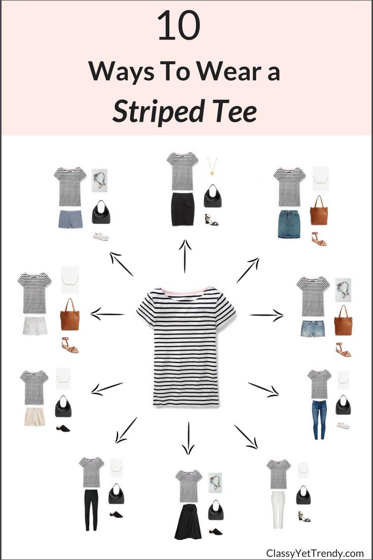 10 Ways To Wear A Striped Tee .
