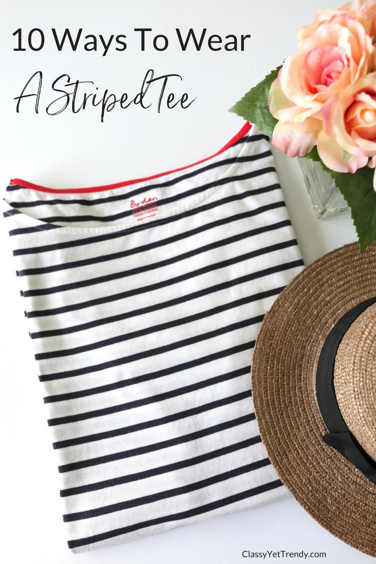 10 Ways To Wear a Striped Tee _
