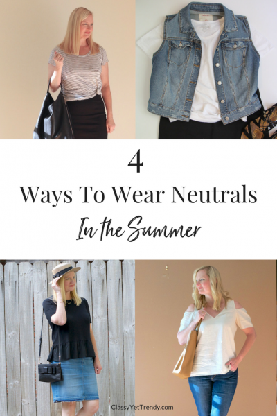 4 Ways To Wear Neutrals In The Summer
