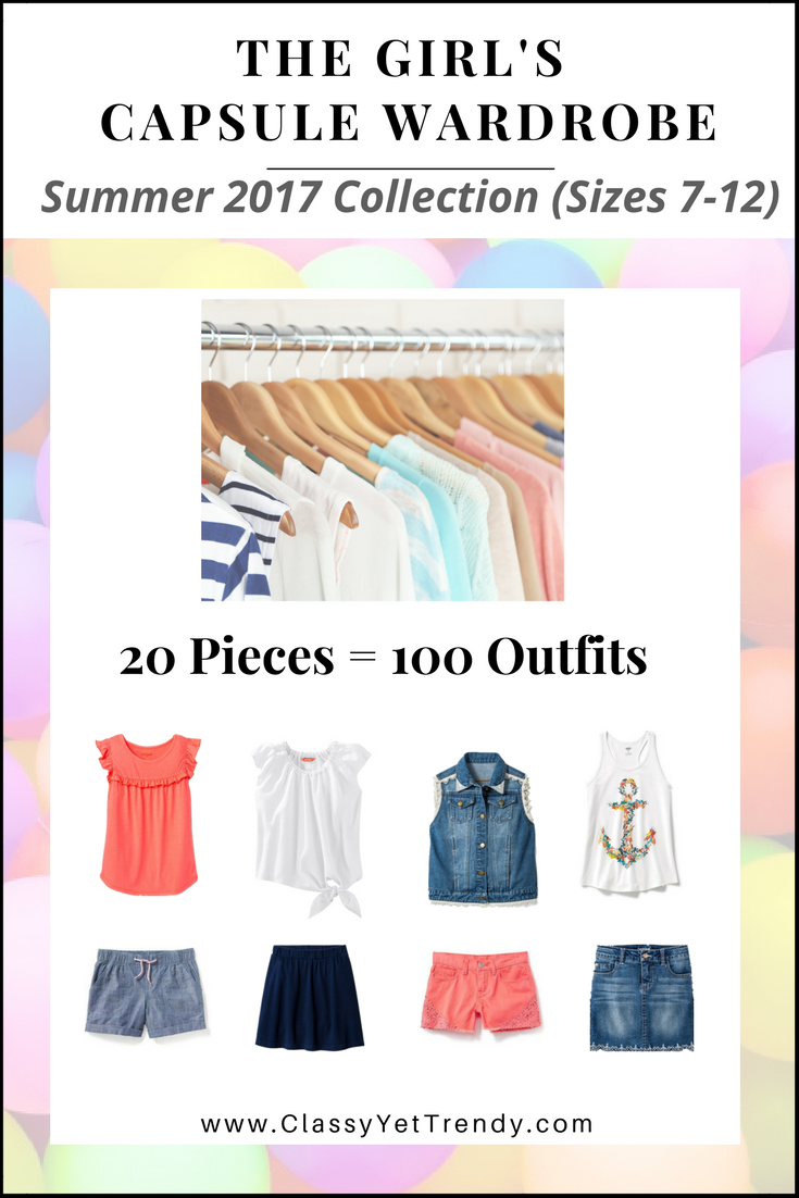 Create A Girl's Capsule Wardrobe On A Budget: 10 Summer