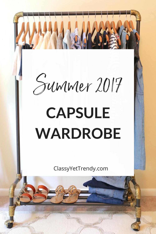 My Summer 2017 Capsule Wardrobe