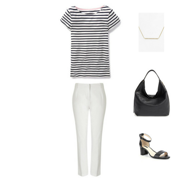 How To Wear a Striped Tee - Outfit #5