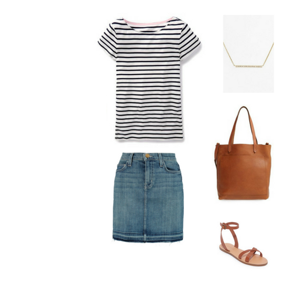 How To Wear a Striped Tee - Outfit #6
