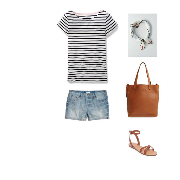 How To Wear a Striped Tee - Outfit #2