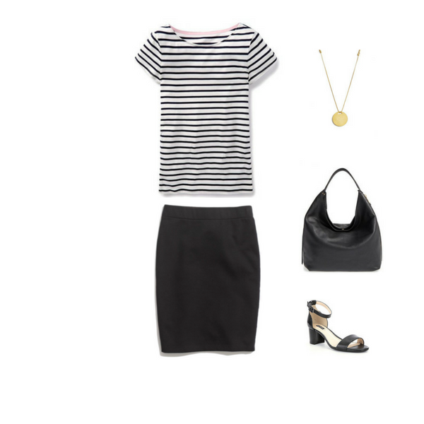 How To Wear a Striped Tee - Outfit #7