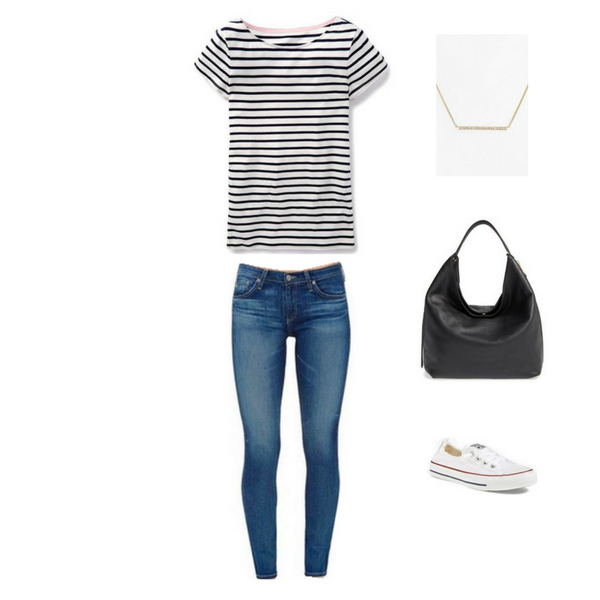 How To Wear a Striped Tee - Outfit #3