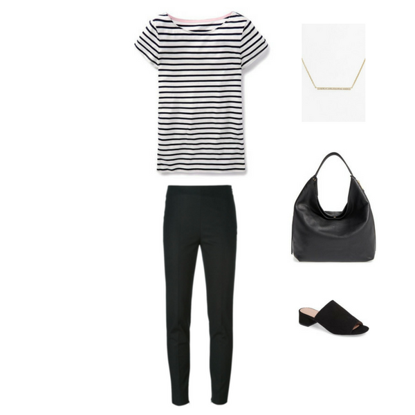 How To Wear a Striped Tee - Outfit #10