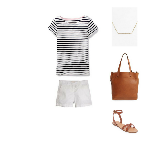 How To Wear a Striped Tee - Outfit #4