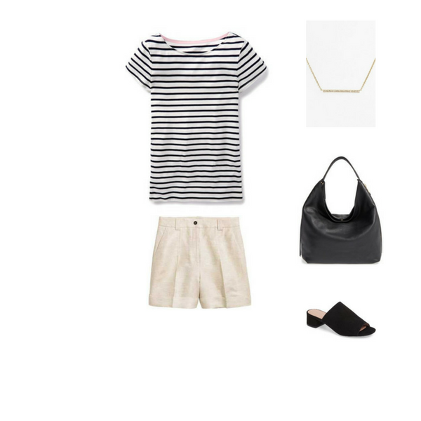 How To Wear a Striped Tee - Outfit #9