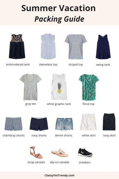 Summer Vacation Packing Guide Part 1: What To Pack (TW #126)
