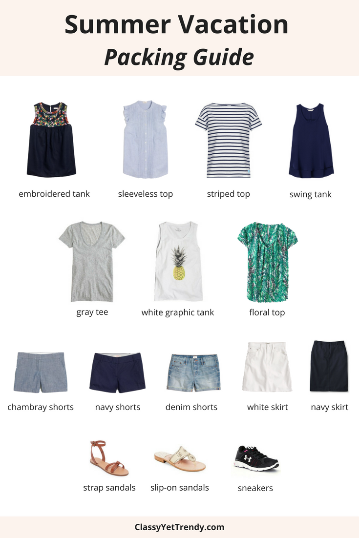 Summer Vacation Packing Guide Part 1 What To Pack Tw