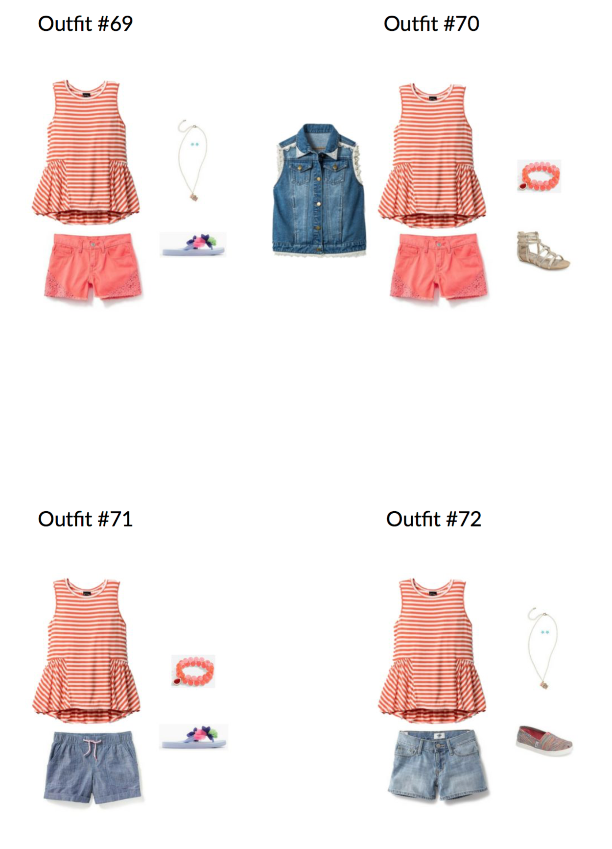 The Girl's Capsule Wardrobe: Summer 2017 Collection Page Example