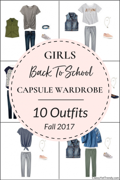 Create a Girl's Back To School Capsule Wardrobe: 10 Fall Outfits