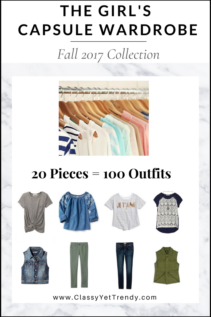 Girl's Capsule Wardrobe Fall 2017 Collection