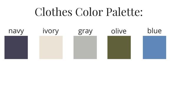 Girls Capsule Wardrobe Fall 2017 Color Palette