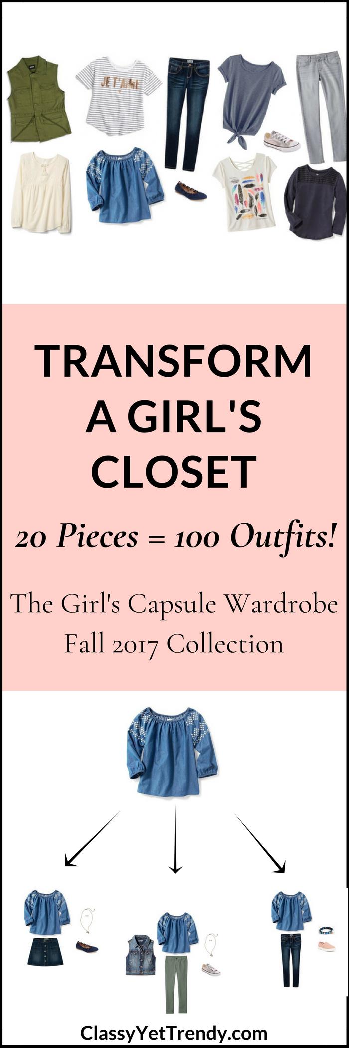 Girl's Capsule Wardrobe - Fall 2017