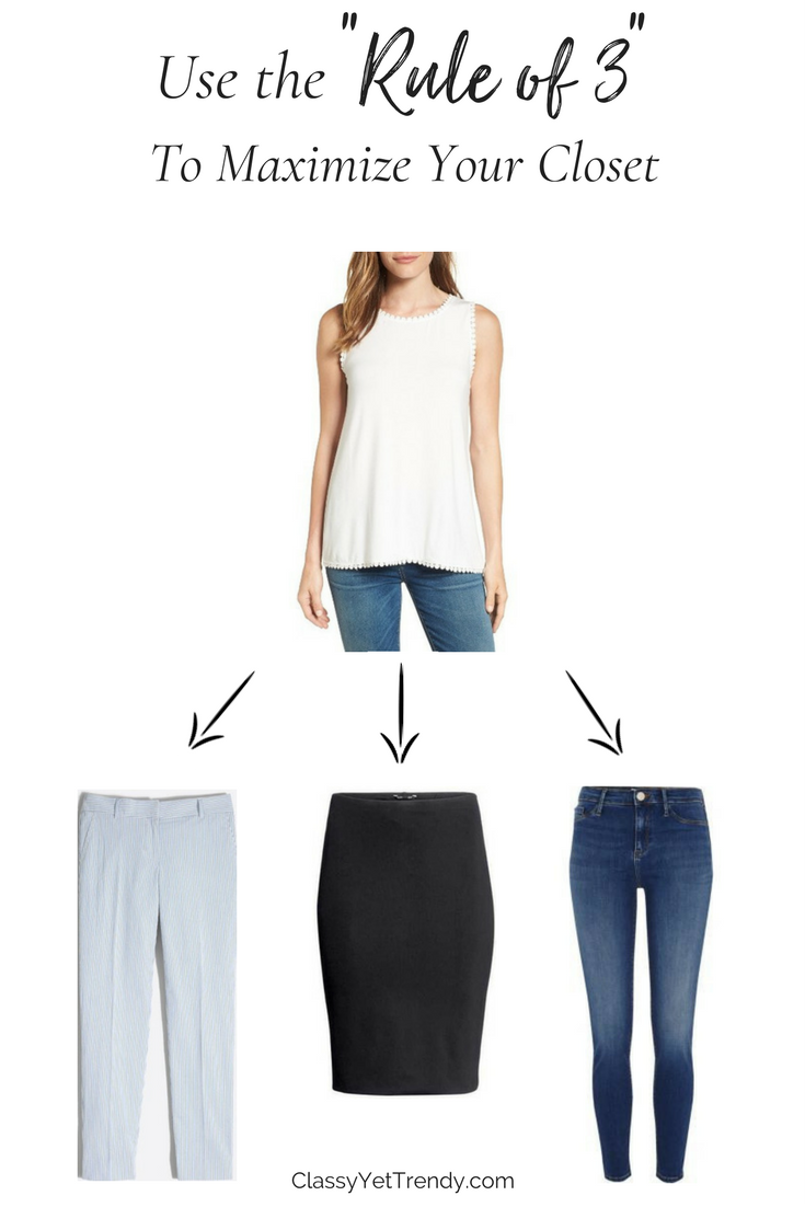 Maximize Your Closet - Rule of 3