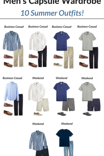 Create a Men's Capsule Wardrobe: 10 Summer Outfits