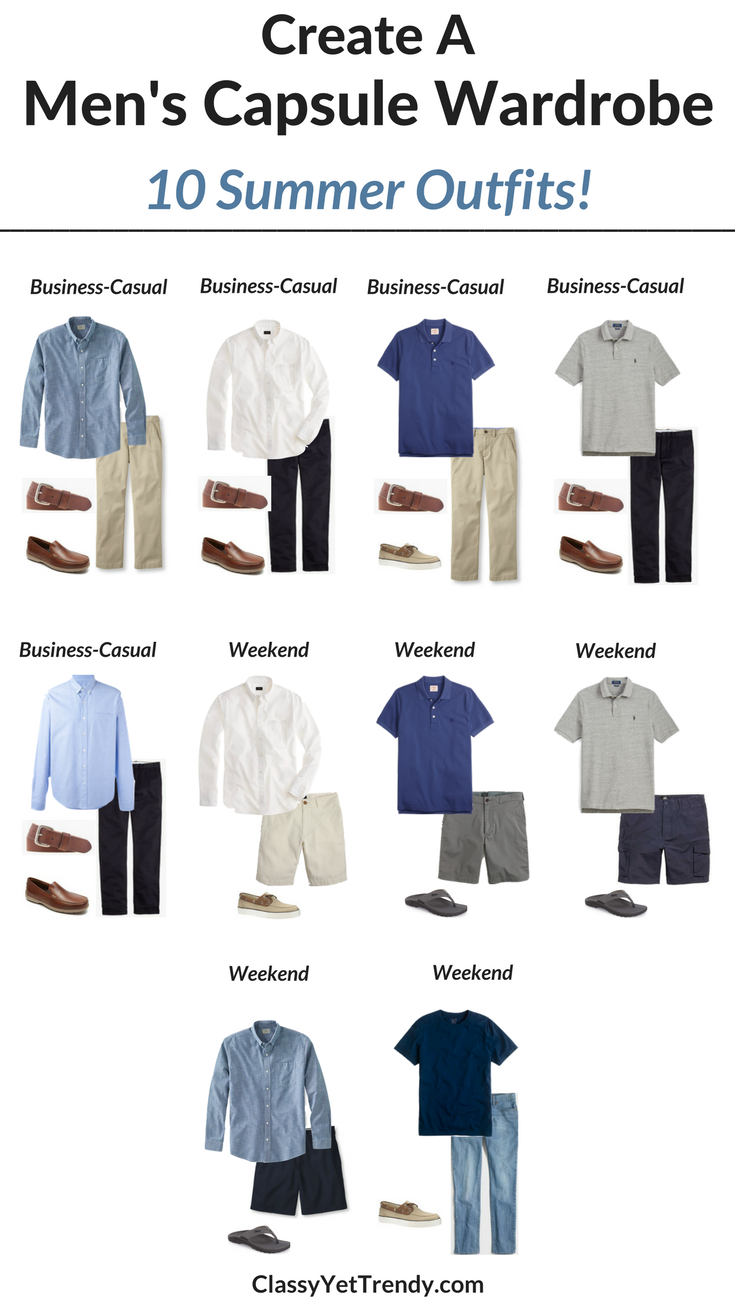 Capsule Wardrobe: Create A Men's Capsule Wardrobe: 10 Summer Outfits