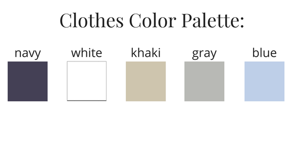 Mens Capsule Wardrobe Summer 2017 Color Palette