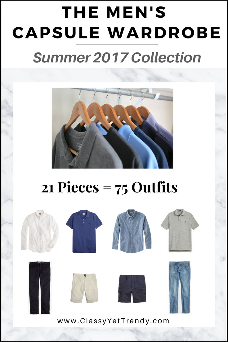 Mens Summer Capsule Wardrobe 2017 e-Book Cover
