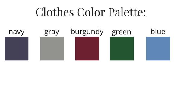 Boys Capsule Wardrobe Fall 2017 Color Palette