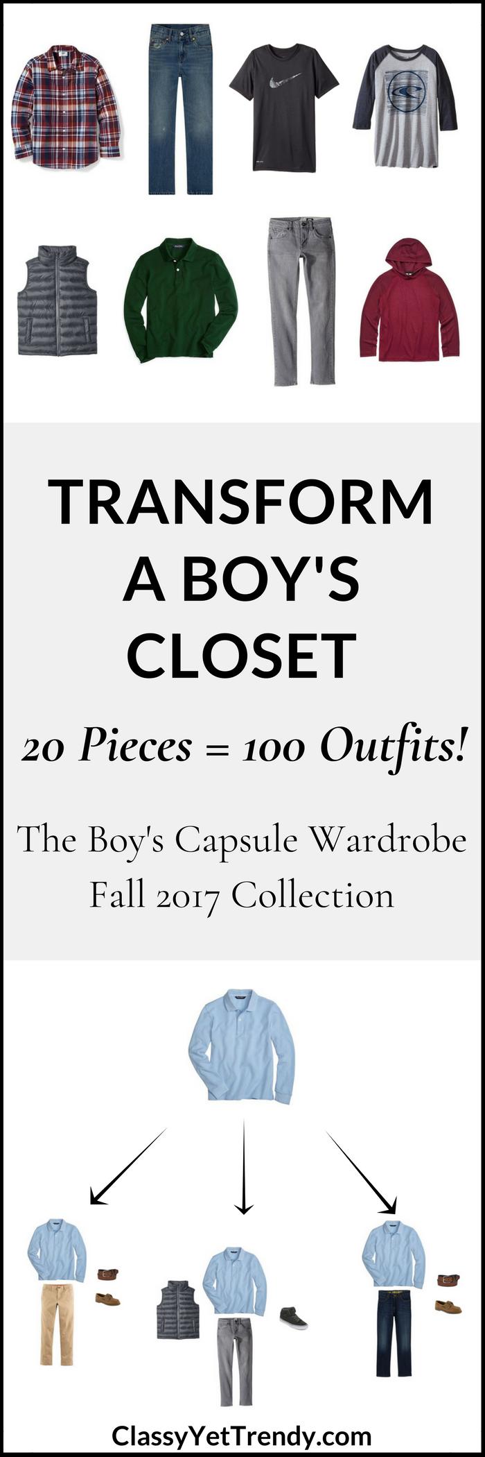 Boy's Capsule Wardrobe - Fall 2017