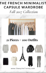 The French Minimalist Capsule Wardrobe: Fall 2017 Collection