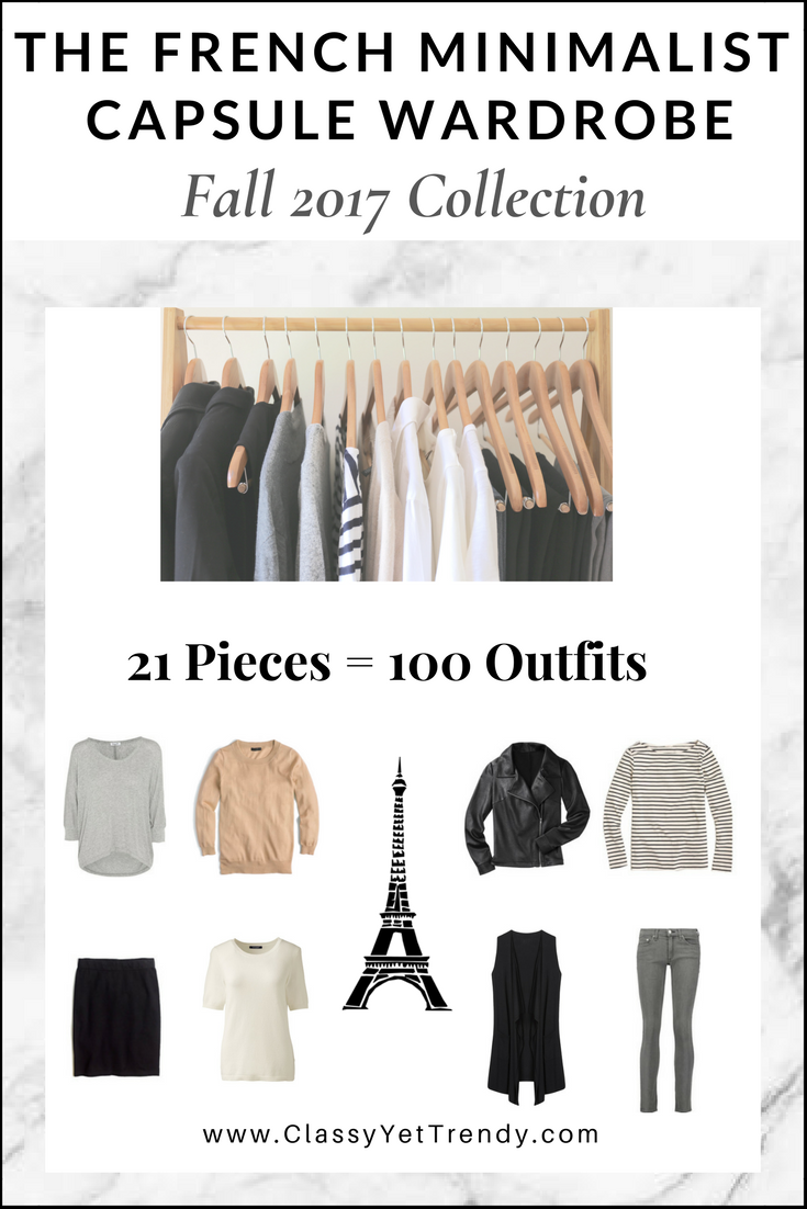 The French Minimalist Capsule Wardrobe Fall 2017