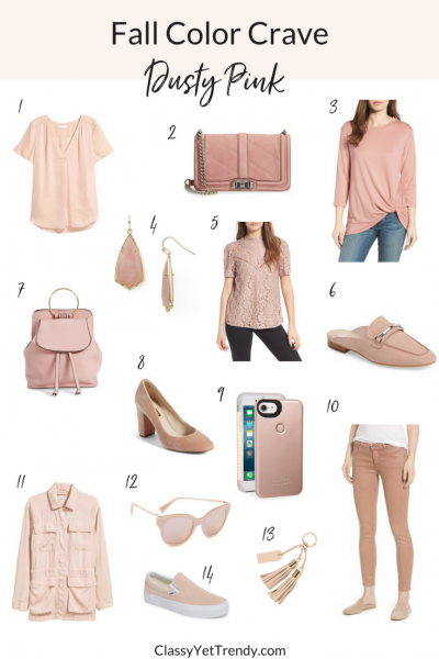 Fall Color Crave: Dusty Pink