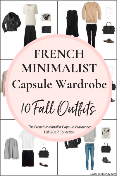 Create a French Minimalist Capsule Wardrobe: 10 Fall Outfits