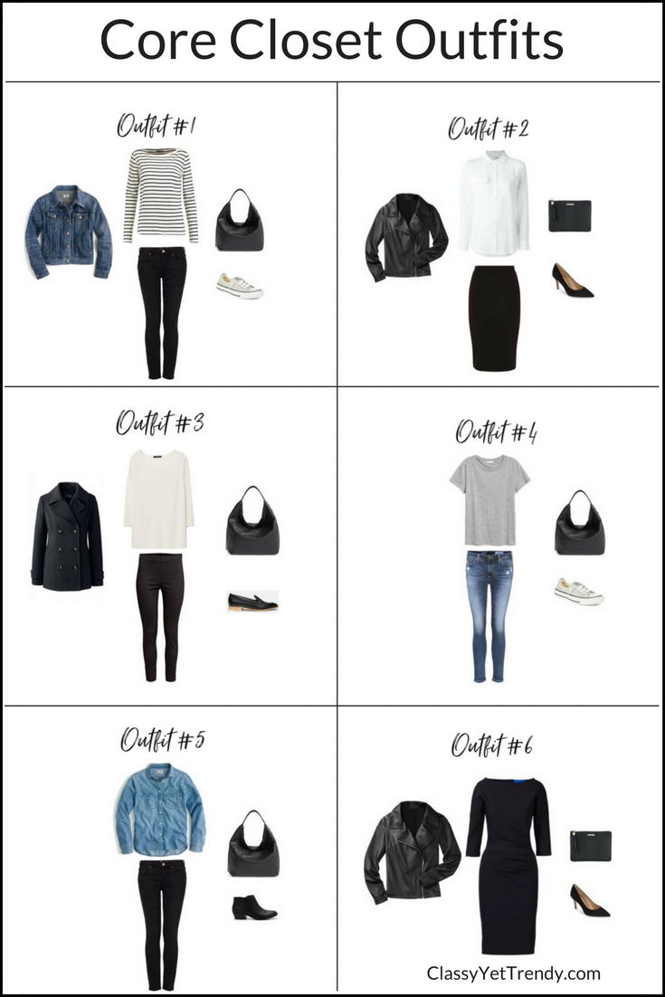 How to create outfits with a core closet 6 outfit ideas for How to design my closet