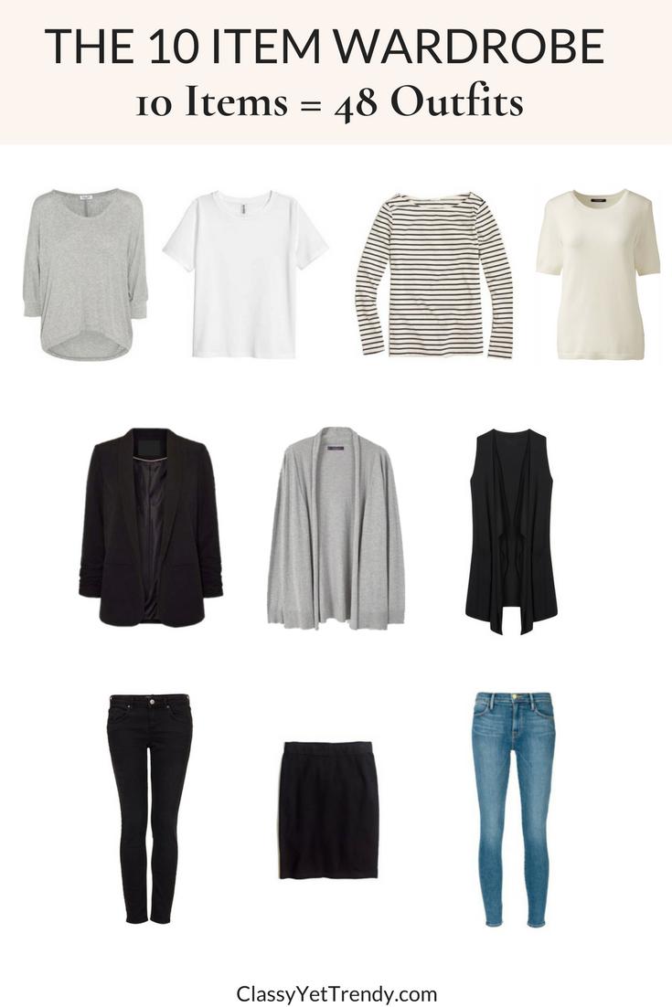 The 10 Item Wardrobe