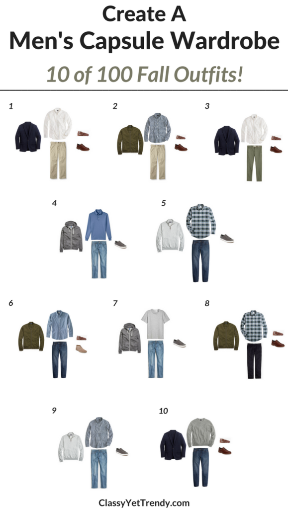 Men's Capsule Wardrobe - 10 Fall Outfits