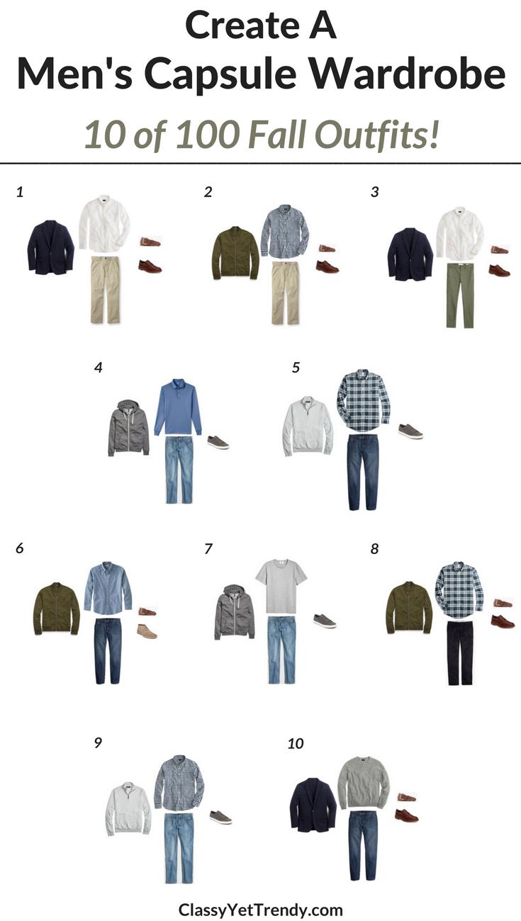 create a men u0026 39 s capsule wardrobe  10 fall outfits