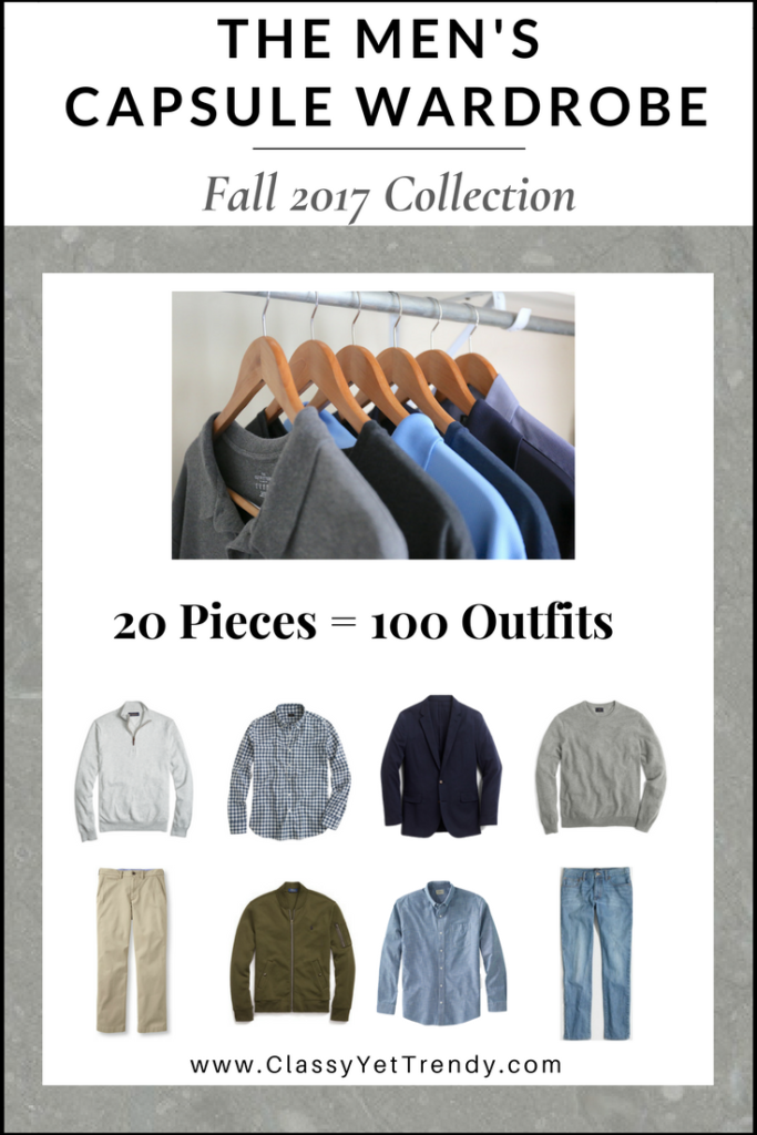The Men's Capsule Wardrobe: Fall 2017 Collection