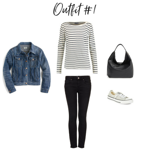 How To Create Outfits With a Core Closet - Outfit #1