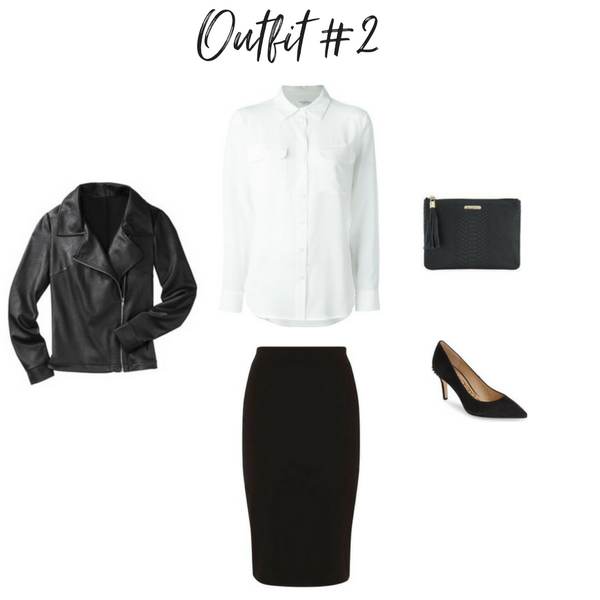 How To Create Outfits With a Core Closet - Outfit #2