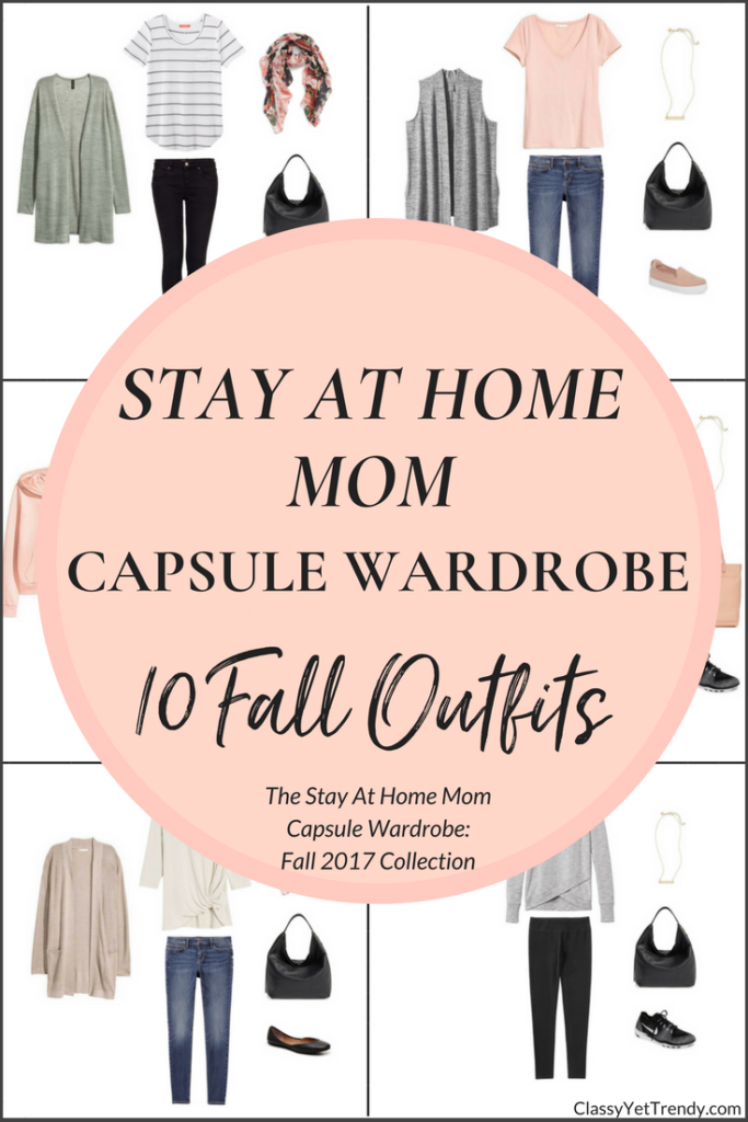 Stay At Home Mom Capsule Wardrobe - 10 Fall 2017 Outfits-