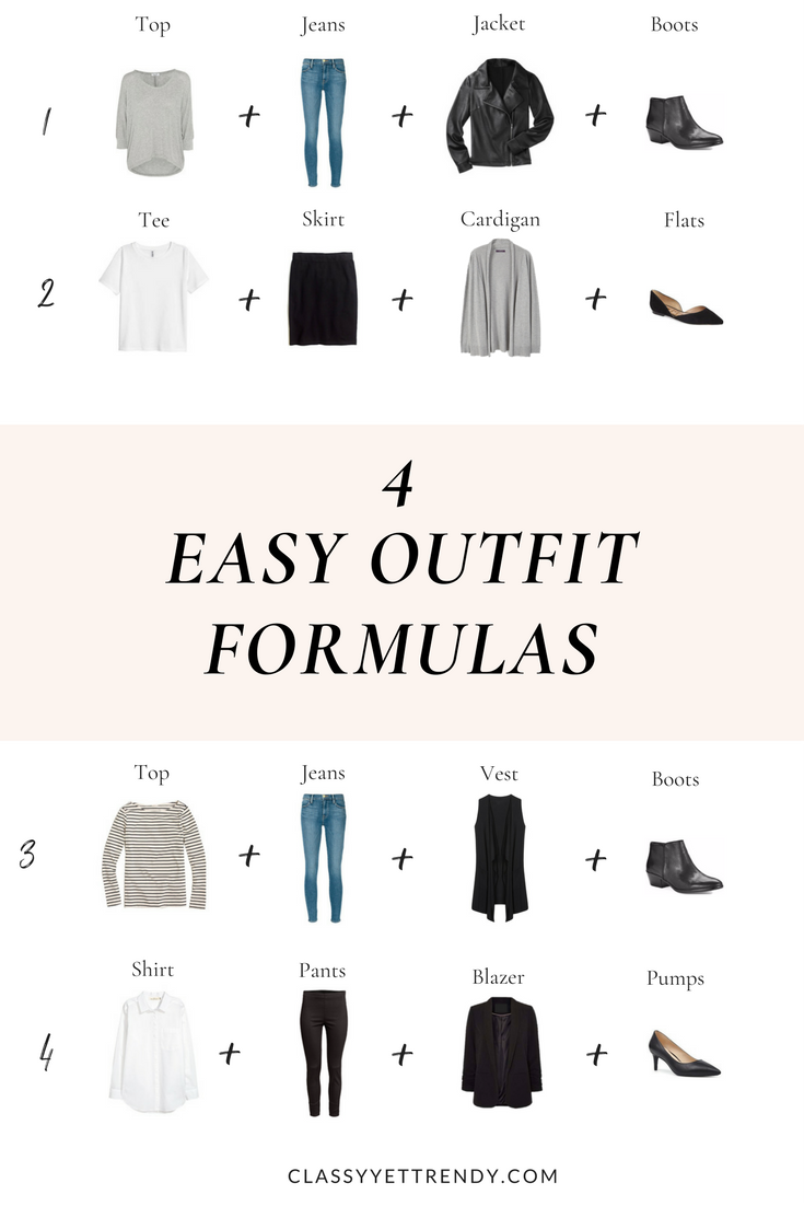 4 Easy Outfit Formulas
