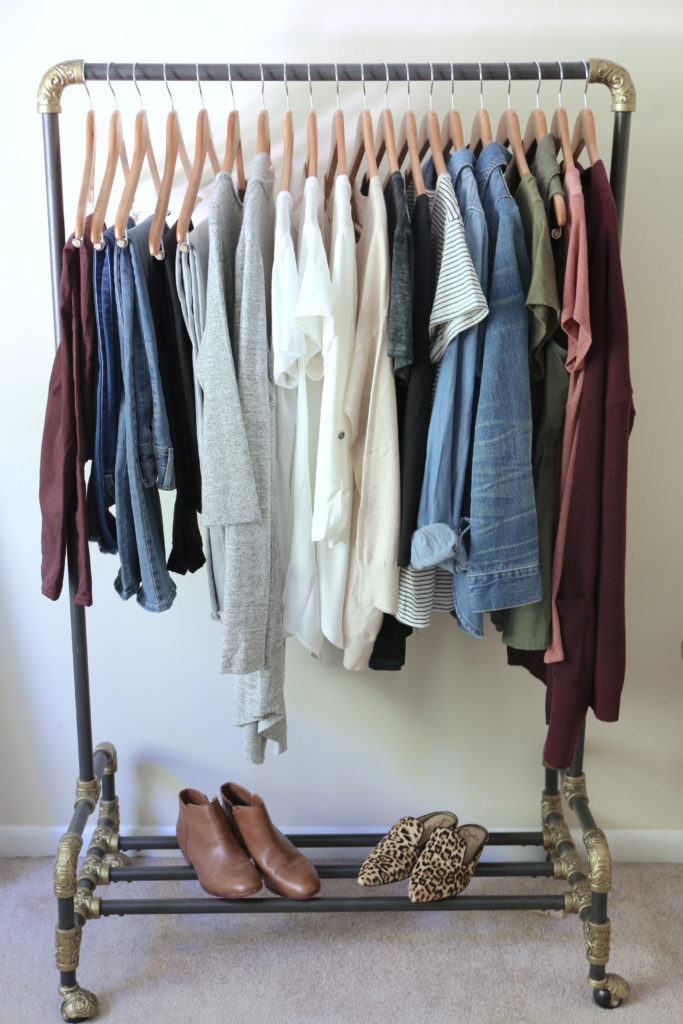My Fall 2017 Capsule Wardrobe - clothes rack