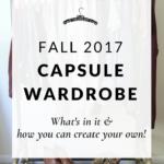 My Capsule Wardrobe: Fall 2017
