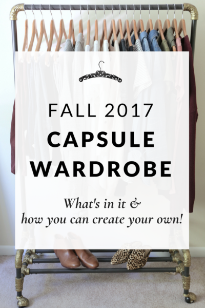 My Capsule Wardrobe: Fall 2017