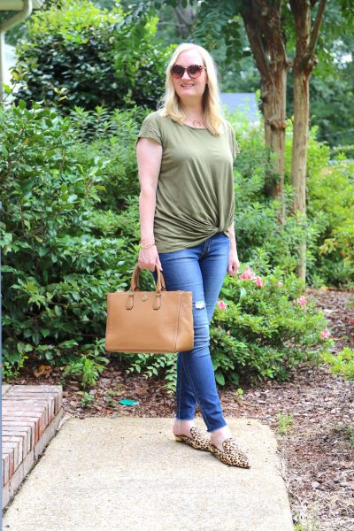 Olive and Leopard Mules (Trendy Wednesday #134)