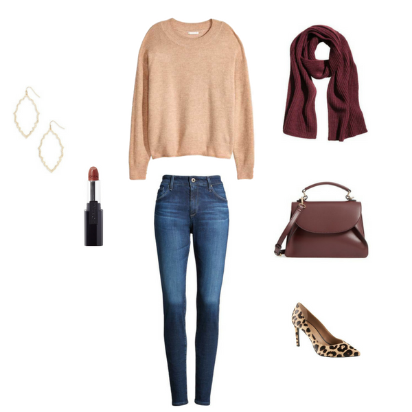 How To Dress Up Jeans 4 Ways - Outfit 2-