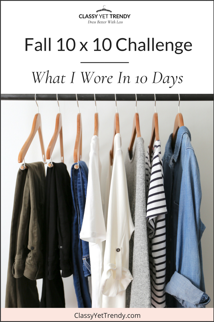 Fall 2017 10x10 Challenge- What I Wore In 10 Days