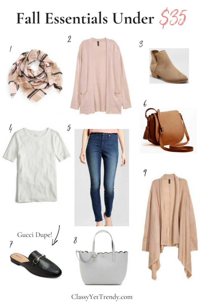 Fall Essentials Under $35