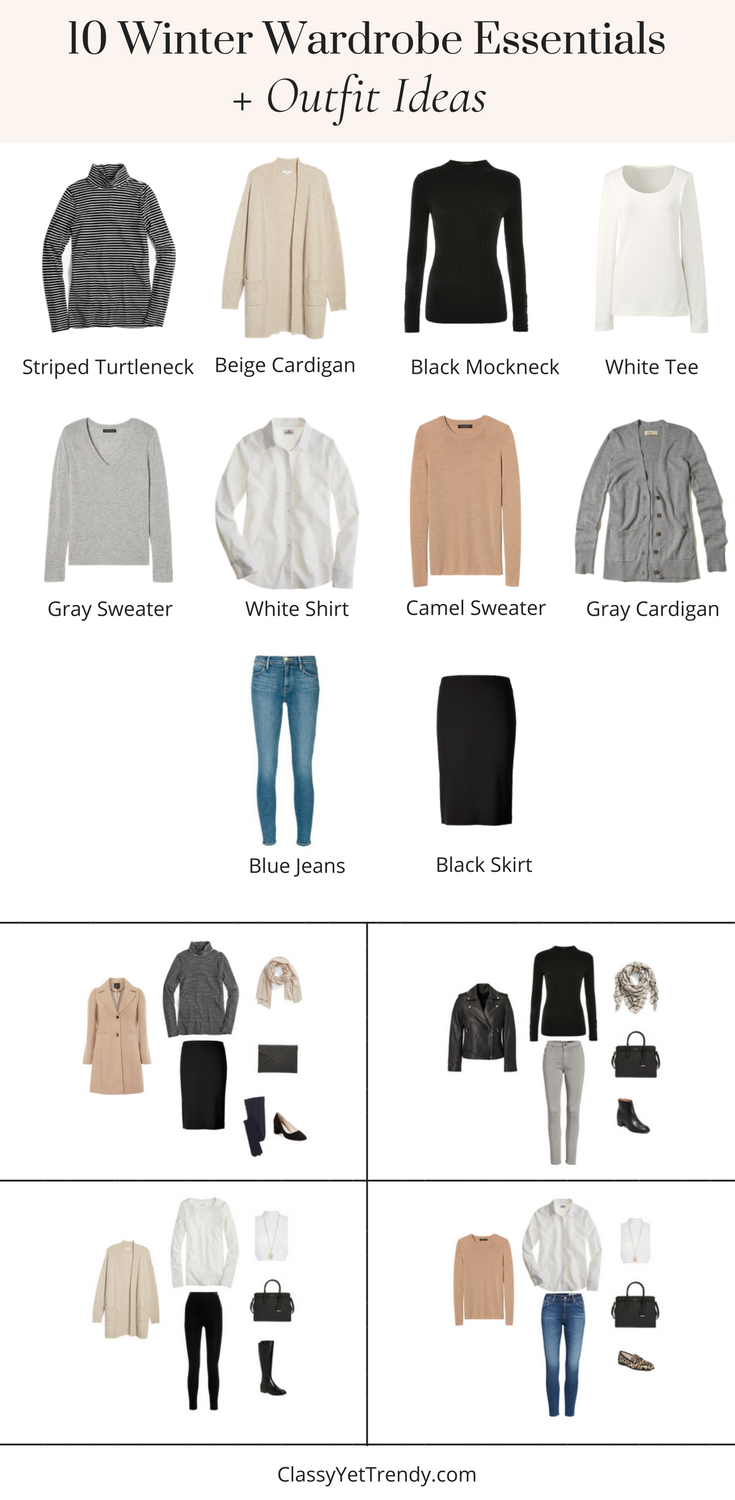 10 Winter Wardrobe Essentials For Your Closet and Outfit Ideas