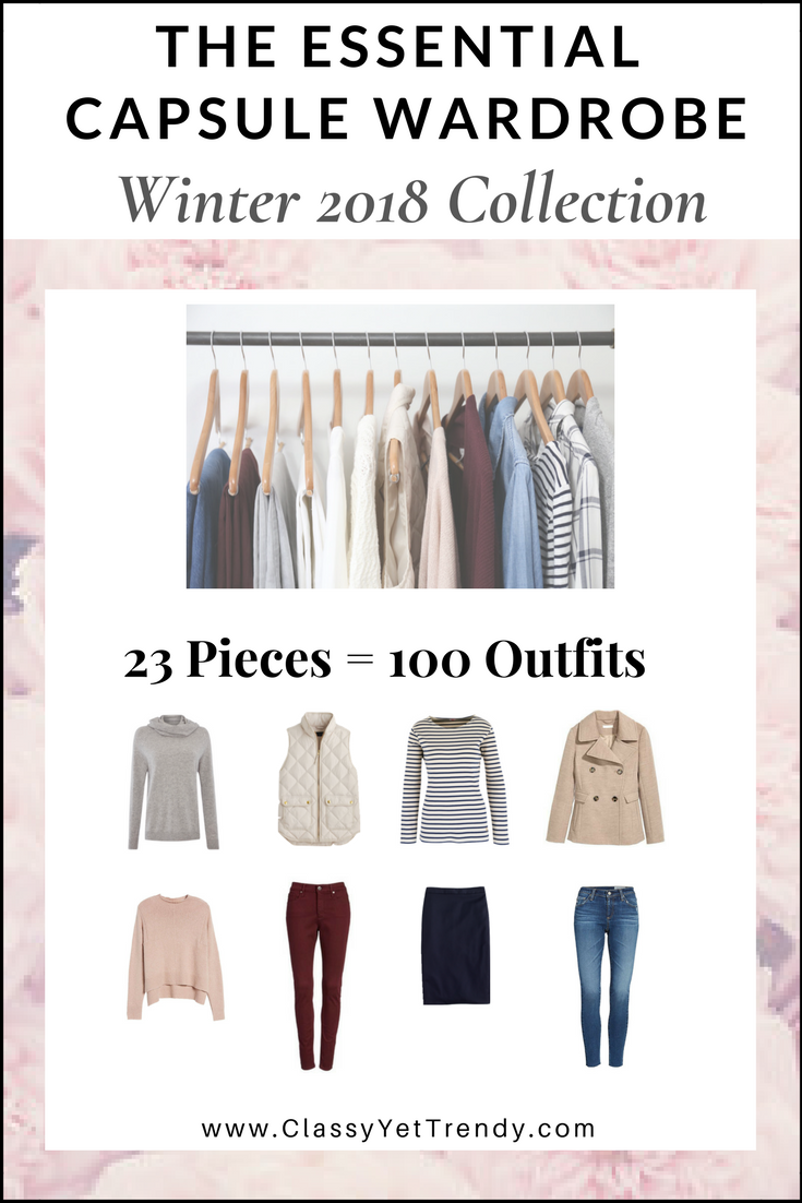 Essential Capsule Wardrobe Winter 2018